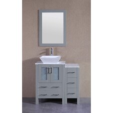 35.9 Single Bathroom Vanity Set with Mirror by Bosconi