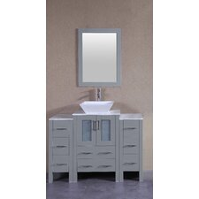 48.1 Single Bathroom Vanity Set with Mirror by Bosconi