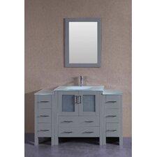 54 Single Bathroom Vanity with Mirror by Bosconi