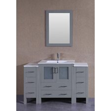 54.2 Single Vanity Set with Mirror by Bosconi