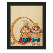 The Emperor's New Clothes Framed Graphic Art on Canvas