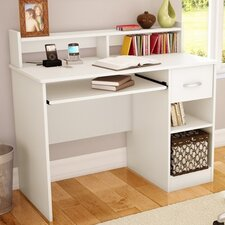 Axess 1 Drawer Computer Desk with Hutch by South Shore