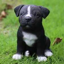 Sitting Staffordshire Pitbull Puppy Statue
