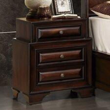 Sarina 3 Drawer Nightstand by Global Furniture USA