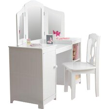 Deluxe 2 Piece Vanity Set with Mirror
