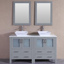 59.1 Double Vanity Set with Mirror by Bosconi