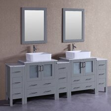 95.7 Double Vanity Set with Mirror by Bosconi