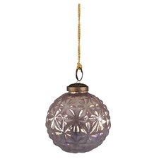 Amethyst Glass Lustre Bauble Ornament