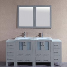 71.7 Double Vanity Set with Mirror by Bosconi