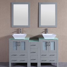 59.5 Double Vanity Set with Mirror by Bosconi