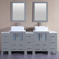 83.9 Double Vanity Set with Mirror by Bosconi
