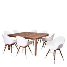 Elsmere Patio 9 Piece Dining Set