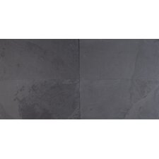 Montauk 12'' X 24'' Slate Field Tile in Black