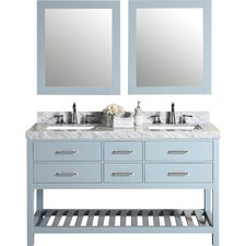 Laguna 61 Double Modern Bathroom Vanity with Mirror by Pacific Collection
