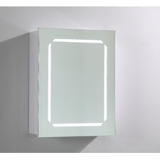 """20"""" x 25"""" Surface Mount Medicine Cabinet with LED Lighting"""