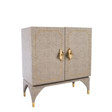 Feuille Studded  Cabinet by Statements by J