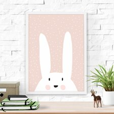 Cute Bunny Paper Print