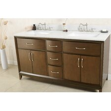 60 Double Bathroom Vanity Set by Legion Furniture