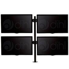 "Quad Arm Desk Mount Stand for 13""-24"" Screens TV"
