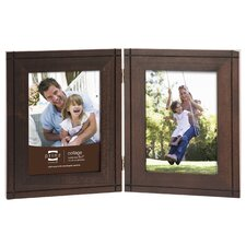 2 Opening Dryden Hinged Wood Picture Frame