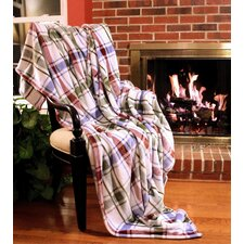 Bedside Comfort Flannel Polyester Throw Blanket