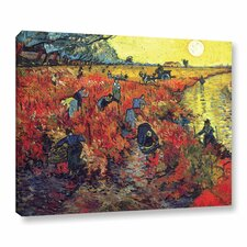 Red Vineyard at Arles by Vincent Van Gogh Painting Print on Canvas