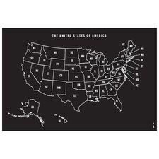 U.S Map Whiteboard/ Chalkboard Wall Decal