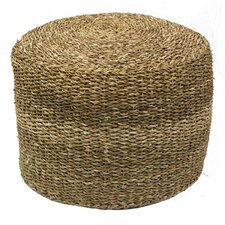 Seagrass Round Pouf Ottoman by ESSENTIAL DÉCOR & BEYOND, INC