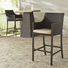 "Liggins 25.25"" Bar Stool with Cushion (Set of 2)"