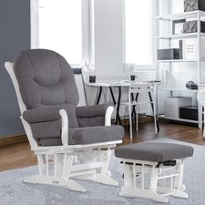 Sleigh Frame Reclining Glider and Nursing Ottoman