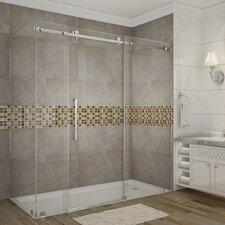 Moselle 72 x 35 x 75 Completely Frameless Sliding Shower Enclosure by Aston