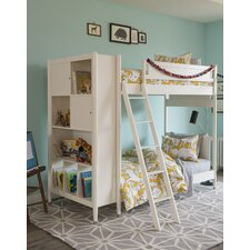 Mid-Century Youth White Bunk Bed