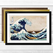'Oriental Under the Great Wave of off Kanagawa' by Katsushika Hokusai Framed Painting Print