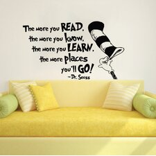 Dr Seuss the More That You Read Wall Decal