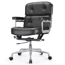 """16"""" Leather Office Chair with Lumbar Support"""