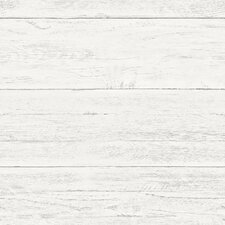 "Shiplap 18' x 20.5"" Brick, Wood and Stone Wallpaper Roll"