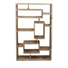 Divided Wood Wall Shelf