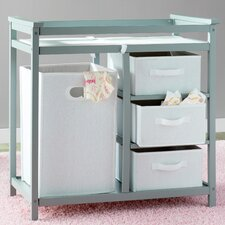Sawyer Avery Changing Table with 3 Baskets and Hamper by Viv + Rae