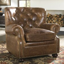 Louis Club Chair by Lazzaro Leather