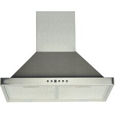 "24"" 450 CFM Ducted Wall Mount Range Hood"
