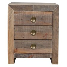 Norman 3 Drawer Nightstand