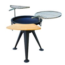 Outdoor Party Charcoal Barbecue with Adjustable Height