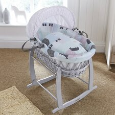 Stanley and Pip Wicker Moses Basket