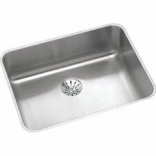 """Gourmet 23.5"""" x 18.25"""" Stainless Steel Single Bowl Undermount Kitchen Sink"""