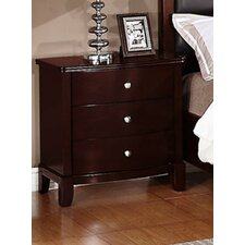 Julia 3 Drawer Nightstand by A&J Homes Studio