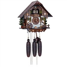 """12.5"""" Chalet 8-Day Movement Cuckoo Clock with Wood Chopper"""