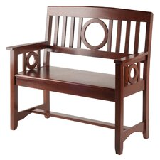 Cider Hill Wood Entryway Bench by Andover Mills