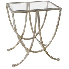 Farrow Antiqued End Table by House of Hampton