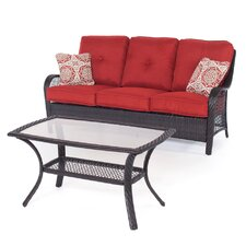 Orleans 2 Piece Deep Seating Group with Cushions by Hanover