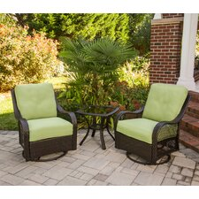 Orleans 3 Piece Deep Seating Group with Cushions by Hanover